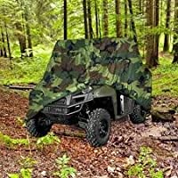 Utv Heavy Duty 420 Denier Camo Waterproof Utv Side By Side Cover Covers Fits Up To 124'l Utv Cover For Rhino Ranger Mule Gator Prowler Razor Recon Rzr Viking Wolverine Wildcat (2 Year Warranty)