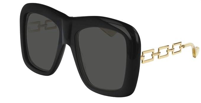83f4f5a6960 Gucci Herren Sonnenbrille Schwarz Schwarz  Amazon.de  Bekleidung
