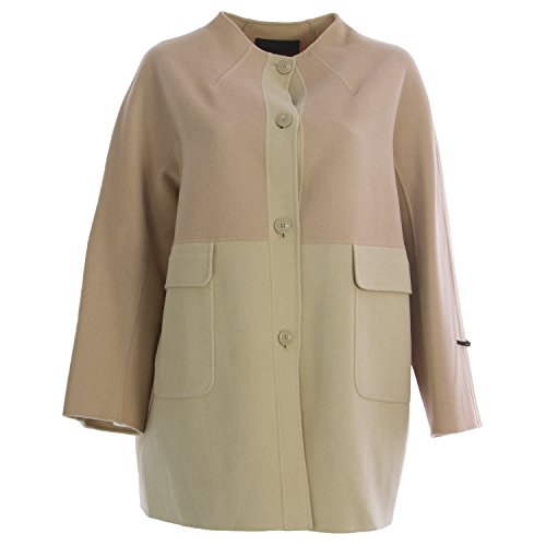 Angora Wool Coat - Marina Rinaldi Women's Notte Two-Tone Wool Coat 16W/25 Pink