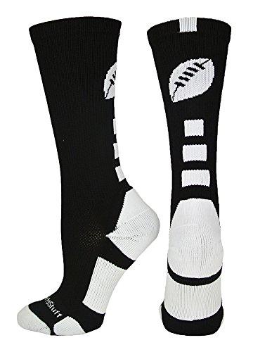 Crew Kids Glove (MadSportsStuff Football Logo Crew Socks, Small, Black/White)