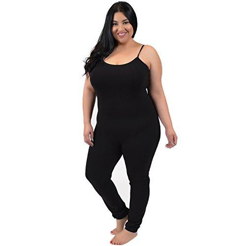 Camisole Unitard (Stretch is Comfort Women's Plus Size Camisole Unitard Black 2X)
