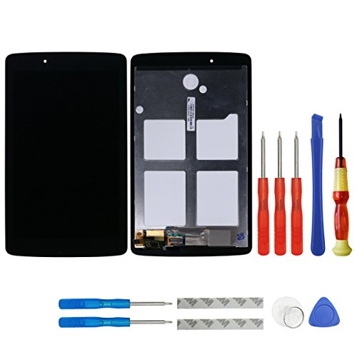 swark LCD Display Compatible with LG G Pad V400 V410 VK410 V410 7.0 Digitizer Touch Screen Assembly Replacement (Black) + Tools