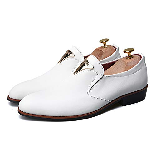 Formales Oxford los Antideslizantes de de Blanco Respirables Hombres Zapatos Negocio Casual del Moda de la Rdq8R7w