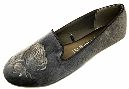Shoes8teen Schuhe 18 Damen Baumwolle China Puppe Mary Jane Schuhe Ballerina Ballerinas Schuhe Ton Grau
