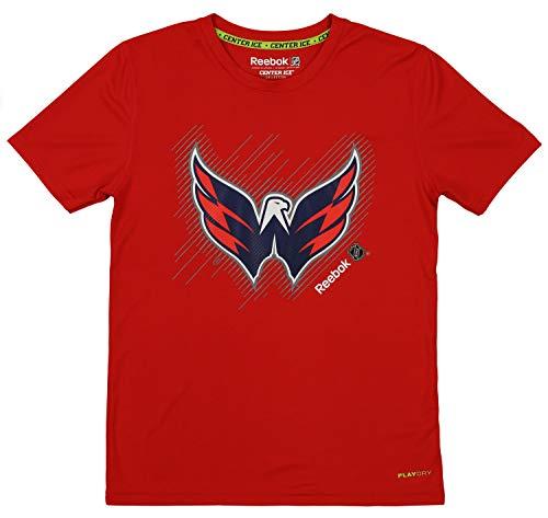 (Reebok NHL Youth (8-18) Washington Capitals Short Team Logo Performance Tee, Red Small (8))