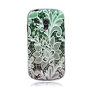 QYF 20150511 Gradient Lace Flowers Pattern TPU Soft Back Cover Case for Samsung S3 Mini I8190N