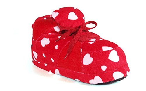 and Slippers Red Womens Standard White and Happy Sneaker Feet Mens YpqH8T