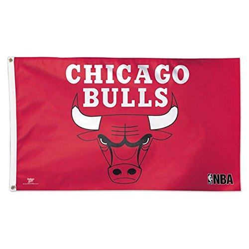 NBA Chicago Bulls 02464115 Deluxe Flag, 3' x 5'