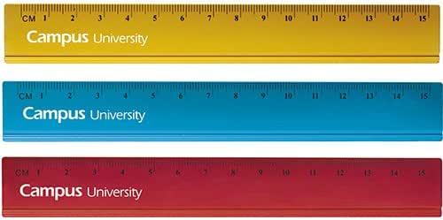 Campus University 600360 - Pack de 24 reglas de aluminio, 15 cm ...