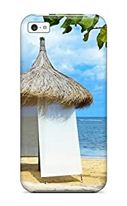 Ideal ZippyDoritEduard Case Cover For Iphone 5c(little Beach Hut), Protective Stylish Case