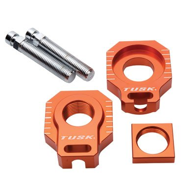 Racing Axle Block Orange for KTM 450 SX-F 2013-2019 Tusk Racing
