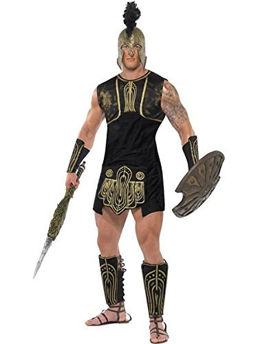 [Smiffy's Men's Achilles Costume, Tunic, Belt, Gauntlets and Shin Guards, Legends, Serious Fun, Size M,] (Trojan Costume)