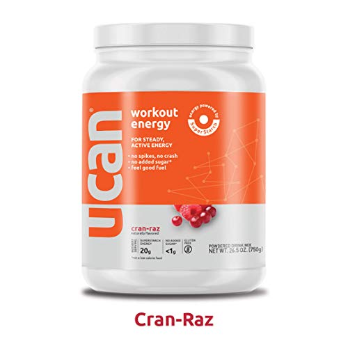 UCAN Workout Energy Powder (26.5oz, 30 Servings) – No Added Sugar, Gluten Free, Vegan, Pre- and Post-Workout Drink, Keto Friendly (Cran Raz)