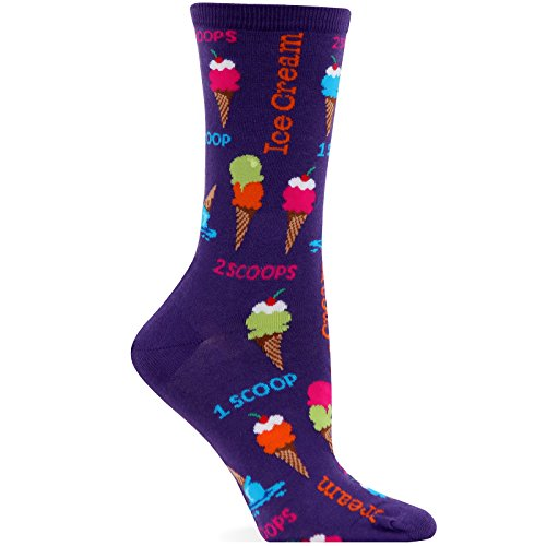 Hot Sox Women's Ice Cream Scoops Crew