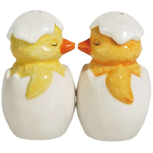 (Mwah Chick-A-Kiss Magnetic Ceramic Salt and Pepper Shaker Set (3.25 Inches))