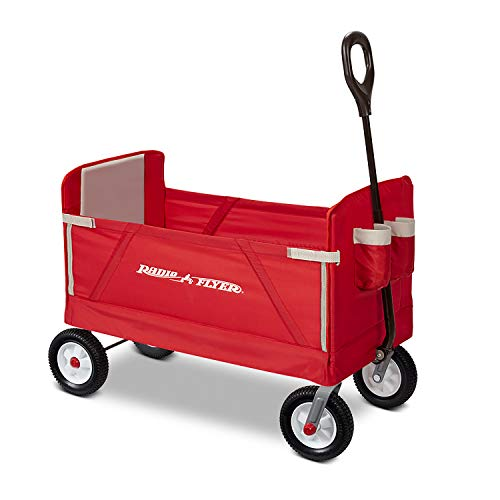 Radio Flyer All-Terrain 3-in-1 EZ Folding Wagon for kids and cargo (Best Looking Off Road Tires)