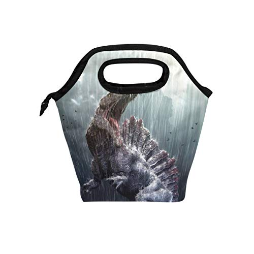 Florence Cool Spinosaurus Dinosaur With Tropical Storm Cooler Warm Pouch Lunch Bags Lunchbox For School Work Portable Meal Handbags Food Container Tote For Picnic