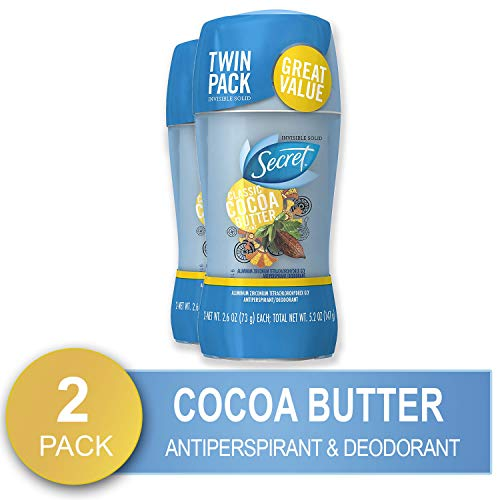 Secret Scent Expressions Invisible Solid 48-Hour Anti-Perspirant and Deodorant, Cocoa Butter Kiss Scent - 2.6 Oz,  2 count, Packaging May Vary