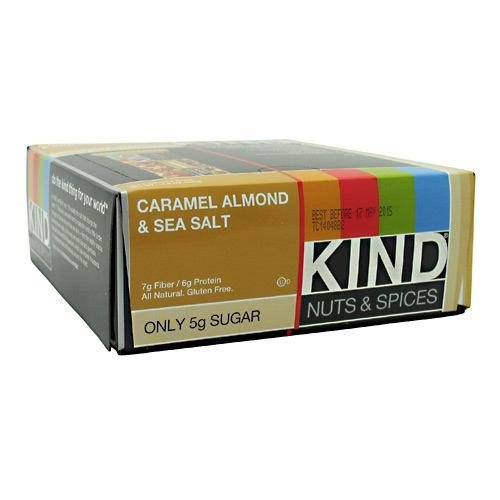 KIND Nuts & Spices Bars, Caramel Almond & Sea Salt, 12 pk, 1