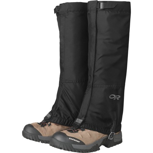 Snake Proof Gaiters (Outdoor Research Men's Rocky Mountain High Gaiters, Black, Large)
