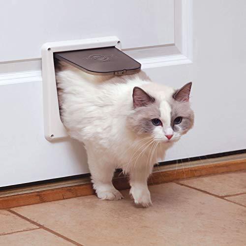PetSafe Cat Door for Interior Door – 2-Way or 4-Way Locking Door Options – Privacy for Litter Box or Automatic Feeder…