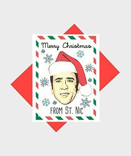 St. Nic Funny Christmas Card Holidays Pop Culture