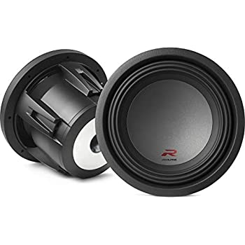 alpine type r 10 inch 2250 watt max 4 ohm round car audio subwoofer | r -w10d4