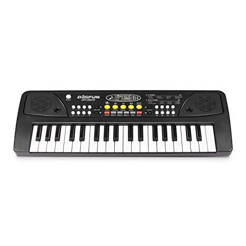 (SAOCOOL Keyboard Piano for Kids, 37 Keys Multifunctional Charging Electronic Kids Keyboard Piano Toy for Children Over 3 Years Old (Black))