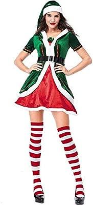 gao Traje De Cosplay De Navidad Traje De Duende Verde Diseño ...