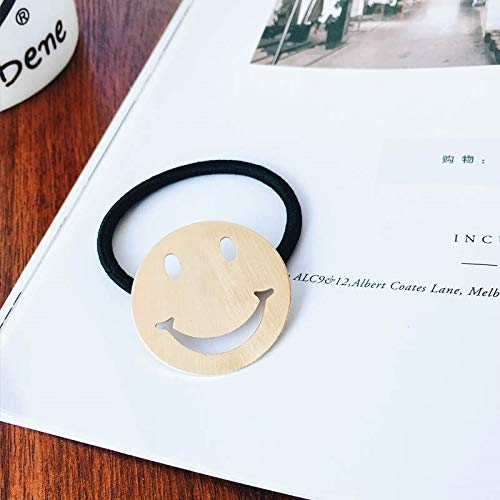 Korea Hair Hoop Hairpin Bangs Clip Gift Clip Gripper Chinese Woman Costume Hair Accessories Small Hairpin Hair pin Comb Claw Hairpin Side Folder Hair Clip Barrette (Golden Smile -
