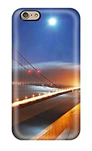 Durable San Francisco Bridge Night Lights Back Case/cover For Iphone 6