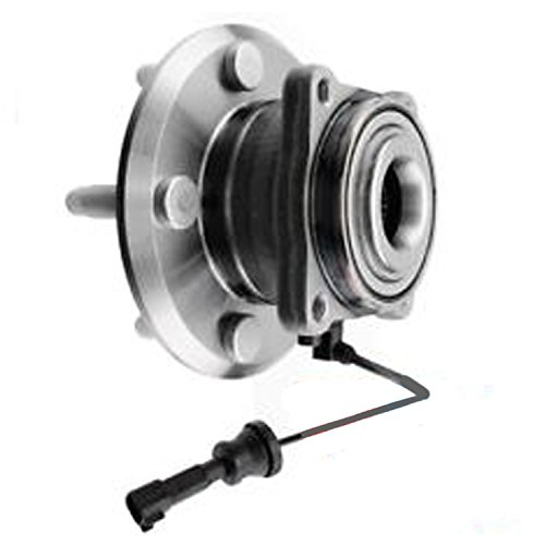 (Detroit Axle - New REAR Complete Driver or Passenger Wheel Hub and Bearing Assembly for 2010-2016 Chevy Equinox - [10-16 GMC Terrain])