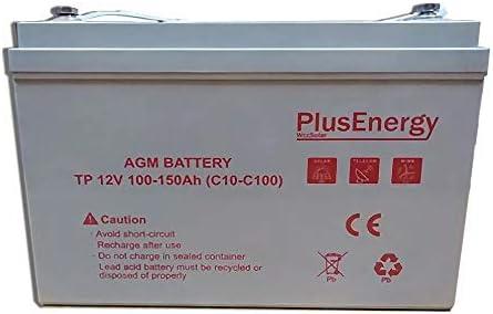 PlusEnergy Bateria AGM 12V TP-150 100AH(C10) 150AH(C100) Ideal para Autocaravana,Caravana,Barco y instalación Solar …