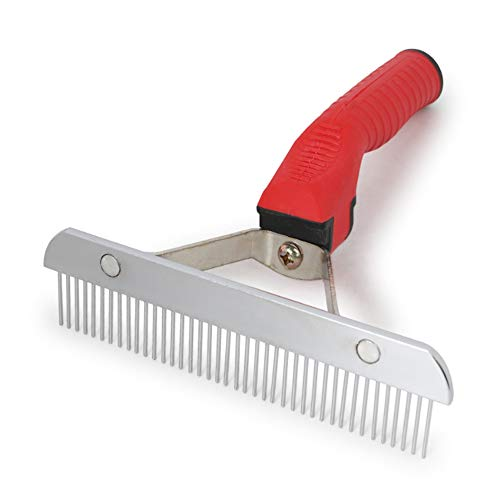ASOCEA Pet Dog Grooming Extra-Large Rake Comb Deshedding Tool Beauty Comb For Medium Large Dogs German Shepherd Golden…