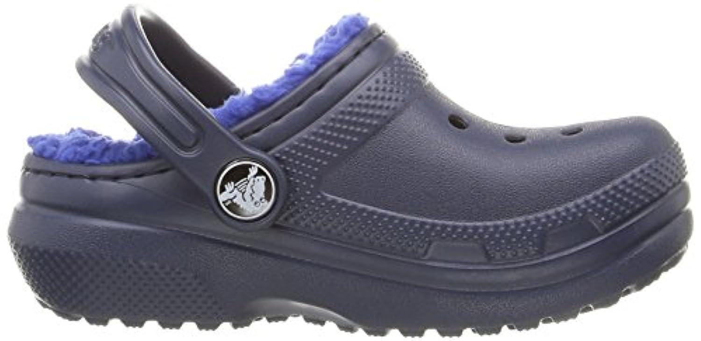Crocs Unisex Kids' Clsclinedclogk Clogs, Blue (Navy/Cerulean Blue), 34-35 34/35 EU