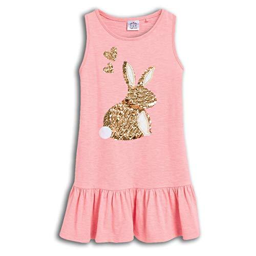 VIKITA Girls Summer Sequin Bunny Rabbit Pink Dresses Sleeveless Casual Cotton Dress SH0330M 7T