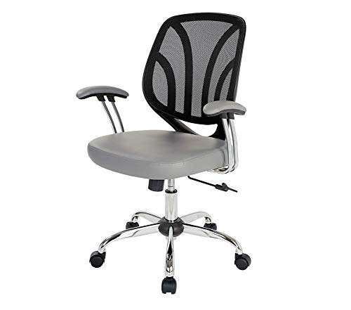 Wood & Style Office Home Furniture Premium Screen Back Office Task Chair, Charcoal