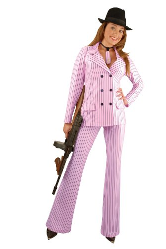 Charades Costumes Women's Gangster Moll Adult Costume Medium (8-10) Pink]()