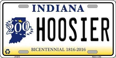- Bargain World Hoosier Indiana Novelty Metal License Plate (Sticky Notes)