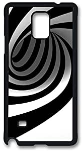 Abstract Black Swirl Case Cover for Samsung Galaxy Note 4, Note 4 Case, Galaxy Note 4 PC Black Case Cover