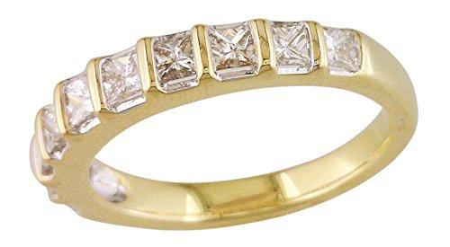 Bar Channel Diamond Band - Women's Bar Channel Diamond Band 14k Yellow Gold .84 cttw
