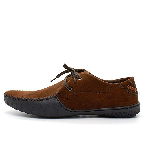 London Footwear ,  Herren Durchgängies Plateau Sandalen mit Keilabsatz Braun