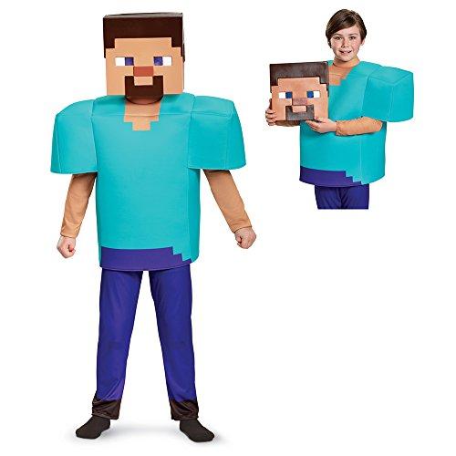 Steve Deluxe Minecraft Costume, Multicolor, Large -