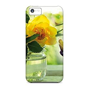 5c Scratch-proof Protection Case Cover For Iphone/ Hot Adore The Yellow Roses Phone Case by icecream design