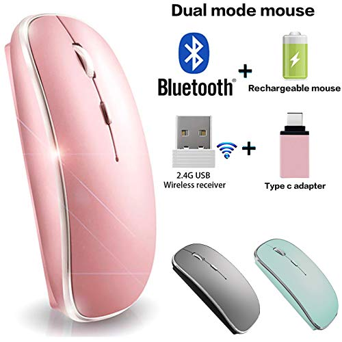 Bluetooth Mouse Wireless Bluetooth Mouse for iPad Mac MacBook Pro MacBook Air iMac Chromebook Desktop Computer