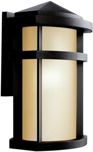 Quoizel MHE8412K Millhouse Seedy Glass Outdoor Wall Lantern Wall Mount Lighting, 4-Light, 240 Watts, Mystic Black 27 H x 12 W