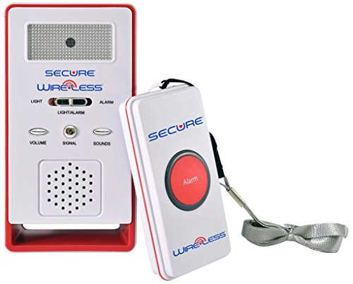 Secure SWCB-1 Wireless Remote Nurse Alert System - Patient Call Button and Caregiver Pager - 500+ Ft Range  (1 Transmitter Set)