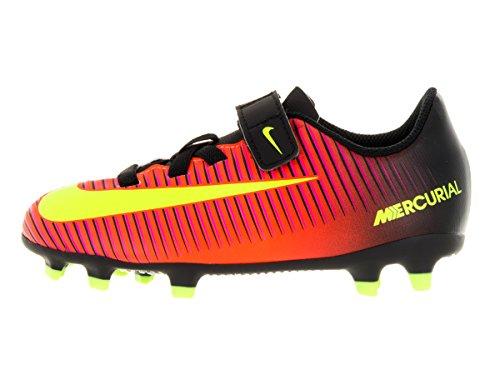 Nike Jr Mercurial Vortex Iii (V) Fg, Botas de Fútbol Unisex Niños Naranja (Total Crimson / Vlt-Blk-Pnk Blst)