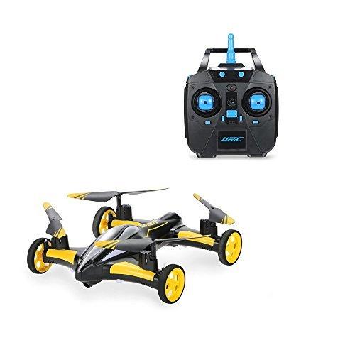 GordVE GV008 Flying Cars Quadcopter Car Remote Control Car and RC Quadcopter Remote Control Drone Flying Vehicles-Yellow