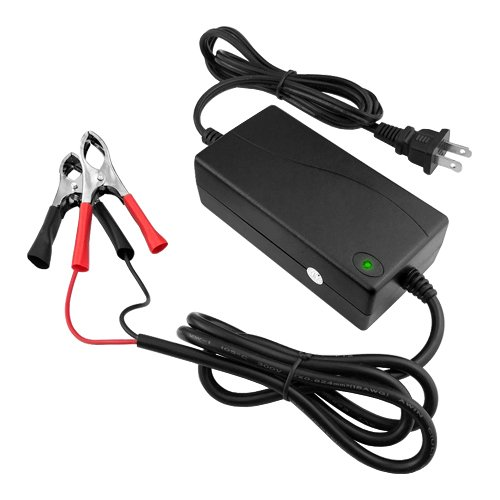 12V 3AH Battery Charger with 3-stage Modes Shortcircuit Protection-2YR Warranty BatteryJack Inc F120-030-D